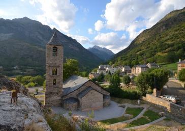 Église romane dans les vallées d'aneu