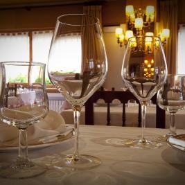 Gastronomic Restaurant , crockery detail, Hotel La Morera València d'Àneu Lleida