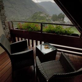 Terrace room with views Hotel La Morera Vàlencia d'Àneu Lleida