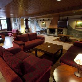 Living room with fireplace Hotel La Morera València d'Àneu Lleida